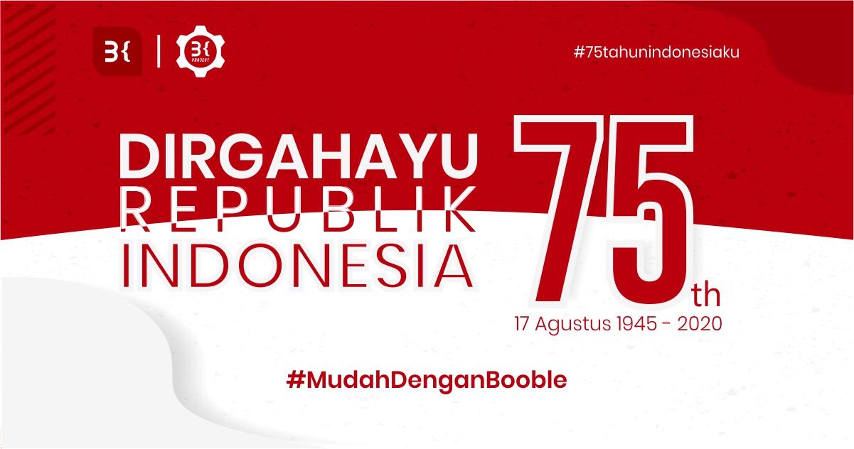 booble.id - Dirgahayu Indonesiaku 75 Tahun